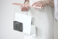 Clear Bag With Copper Handles