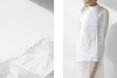 DIY / CLEAR GRIDDED DRESS / IKEA HACK