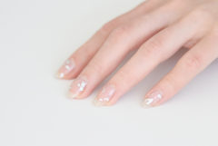 BEAUTY / SILVER LEAF NAILS