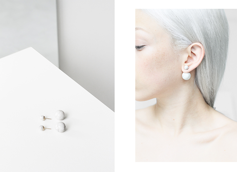 love aesthetics dior tribal marble earrings 1